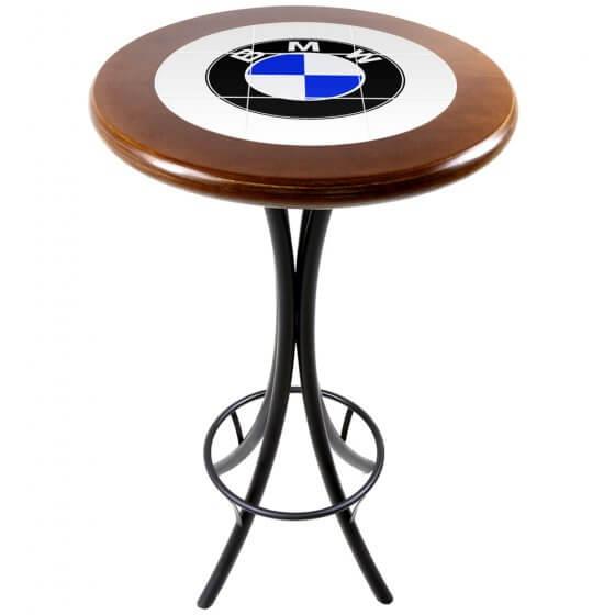 Mesa Bistrô Azulejo BMW Imbuia de 60cm