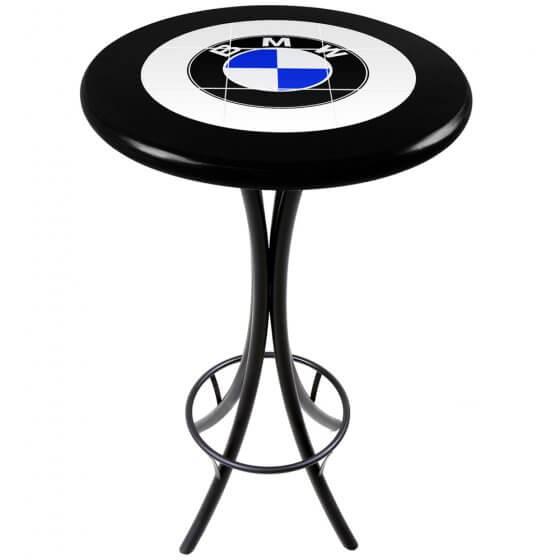 Mesa Bistrô Azulejo BMW Preto de 60cm