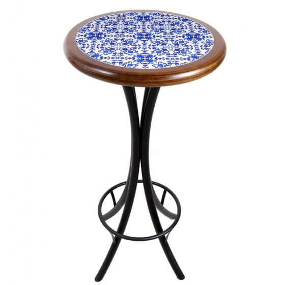 Mesa Bistrô Azulejo Português Imbuia de 50cm - Tambo (Default)