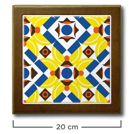 Quadro de Azulejo Anos Dourados 20x20cm - 1 Azulejo