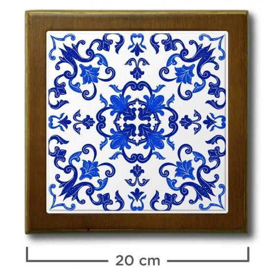 Quadro de Azulejo Portugues 20x20cm - 1 Azulejo