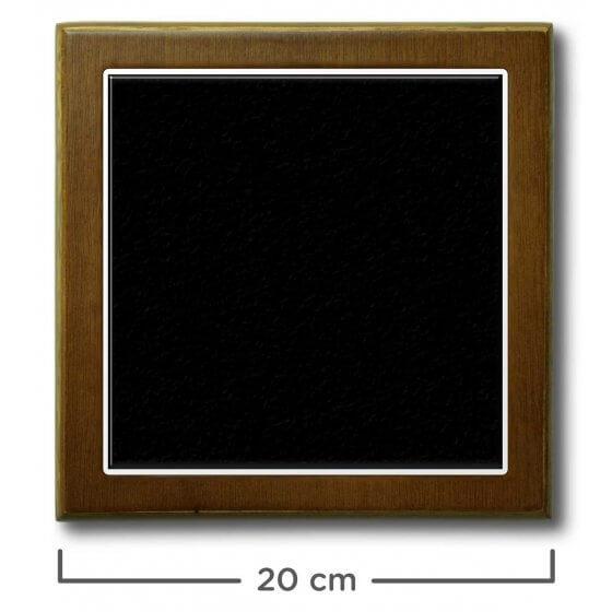 Quadro de Azulejo Preto 20x20cm - 1 Azulejo