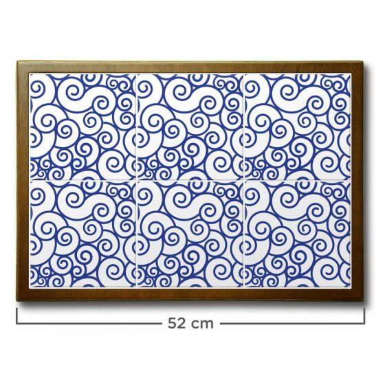 Quadro de Azulejo Ondulação 51x35,5cm - 6 Azulejos
