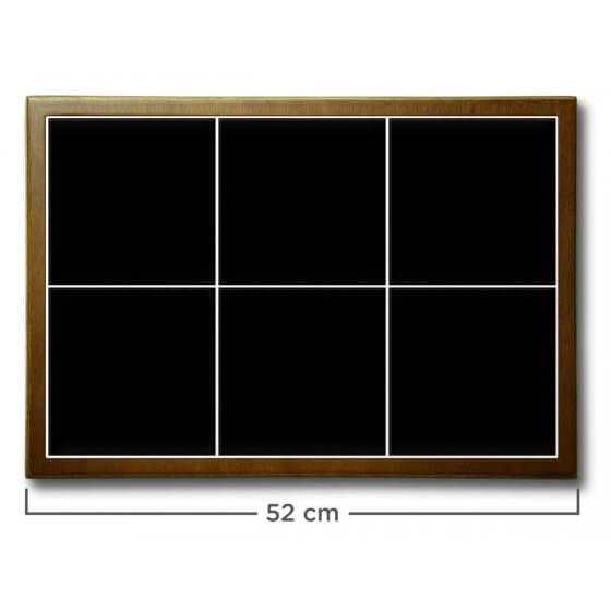 Quadro de Azulejo Preto 51x35,5cm - 6 Azulejos