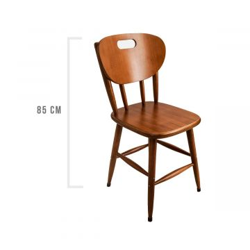 Conjunto 2 cadeiras de jantar em madeira maciça - Empório Tambo