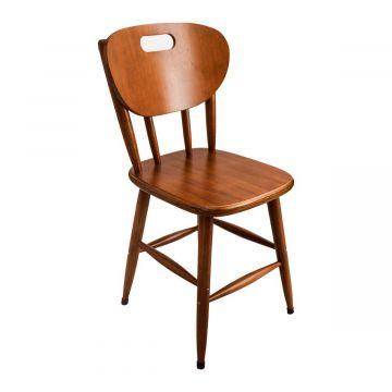 Cadeira de madeira maciça antiga - Empório Tambo