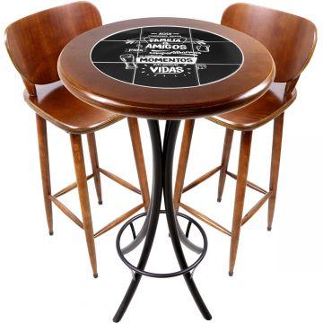 Conjunto de mesa e 2 cadeiras para varanda e sacada Família e Amigos - Empório Tambo
