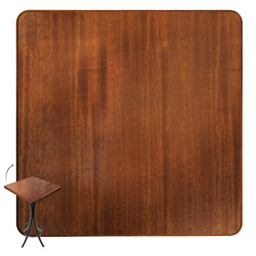 Mesa para bar de madeira com 3 cadeiras Laminado imbuia - Empório Tambo