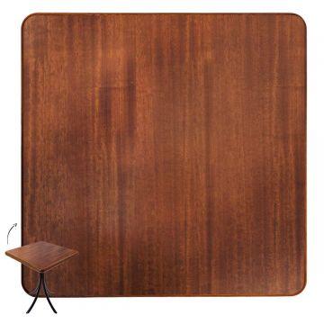 Mesa com 4 cadeiras de madeira Laminado imbuia - Empório Tambo