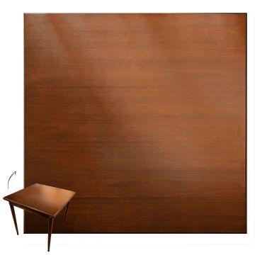 Mesa quadrada madeira maciça rustica Laminado imbuia - Empório Tambo
