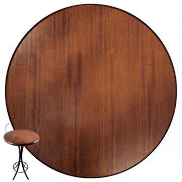 Mesa Pequena com 4 cadeiras redonda para cozinha Laminado imbuia - Empório Tambo