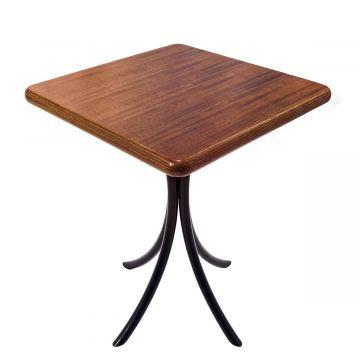 Mesa madeira baixa quadrada 60 x 60 cm - Laminado - Imbuia