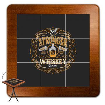 Jogo de Mesa com 4 Cadeiras madeira para lanchonete bar cozinha Stronger Whiskey - Empório Tambo
