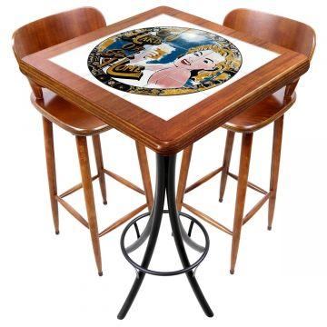 Mesa com 2 cadeiras para cozinha pequena Go hard or Go Home - Empório Tambo