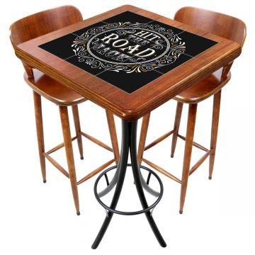 Mesa com 2 cadeiras para cozinha pequena Hit the Road Jack - Empório Tambo