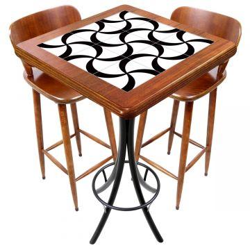 Mesa com 2 cadeiras para cozinha pequena Luar - Empório Tambo