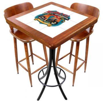 Mesa com 2 cadeiras para cozinha pequena Motorcycle - Empório Tambo