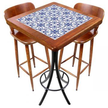 Mesa com 2 cadeiras para cozinha pequena Português - Empório Tambo