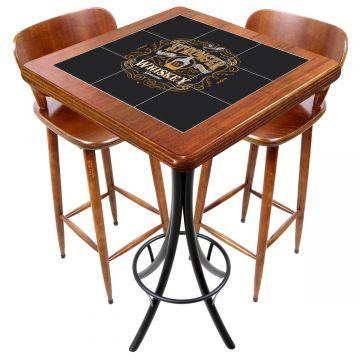 Mesa com 2 cadeiras para cozinha pequena Stronger Whiskey - Empório Tambo