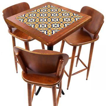Mesa com 3 Banquetas para Cozinha pequena de apartamento Anos Dourados - Empório Tambo