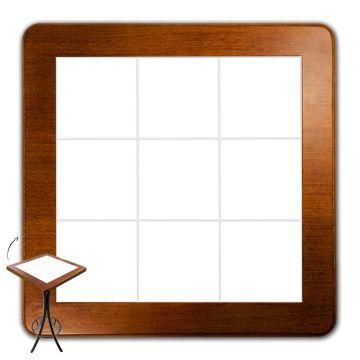 Mesa lanchonete madeira retro vintage com 4 lugares Branco - Empório Tambo
