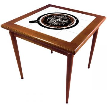 Mesa de madeira jantar maciça rustica quadrada Coffe - Empório Tambo