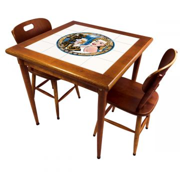 Mesa de jantar pequena quadrada para sala 2 cadeiras Go hard or Go Home - Empório Tambo