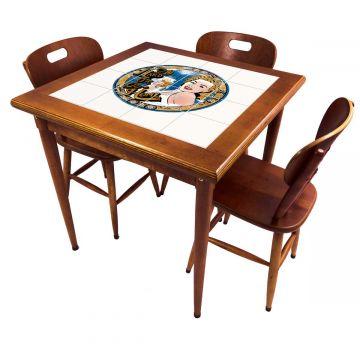 Mesa pequena de jantar com 3 cadeiras para apartamento Go hard or Go Home - Empório Tambo