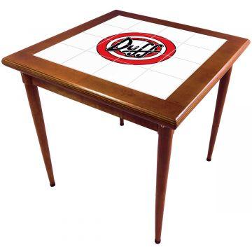 Mesa de madeira jantar maciça rustica quadrada Duff - Empório Tambo