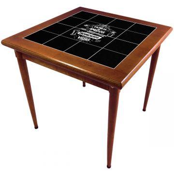Mesa de madeira jantar maciça rustica quadrada Família e Amigos - Empório Tambo