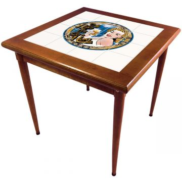 Mesa de madeira jantar maciça rustica quadrada Go hard or Go Home - Empório Tambo