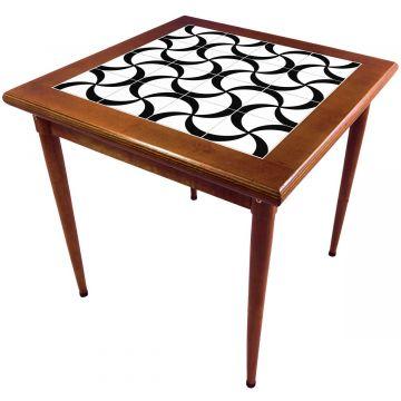 Mesa de madeira jantar maciça rustica quadrada Luar - Empório Tambo
