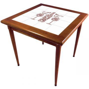 Mesa de madeira jantar maciça rustica quadrada More Wine - Empório Tambo