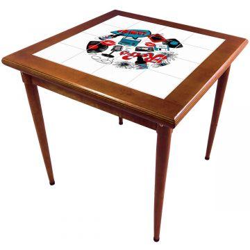 Mesa de madeira jantar maciça rustica quadrada Oh My - Empório Tambo