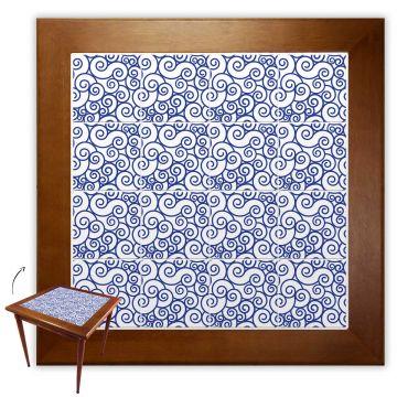 Mesa de Jantar 4 Lugares quadrada de madeira para casa edícula Ondulação - Empório Tambo