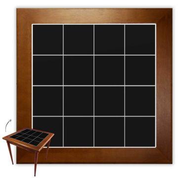 Mesa de Jantar 4 Lugares quadrada de madeira para casa edícula Preto - Empório Tambo
