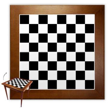 Mesa de Jantar 4 Lugares quadrada de madeira para casa edícula Textura Xadrez - Empório Tambo