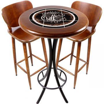 Conjunto de mesa e 2 cadeiras para varanda e sacada Coffe - Empório Tambo