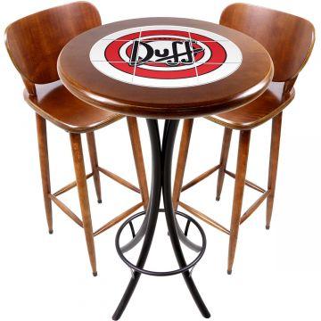 Conjunto de mesa e 2 cadeiras para varanda e sacada Duff - Empório Tambo