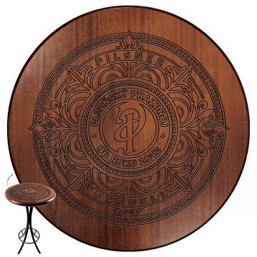 Mesa bistrô com banquetas altas madeira de jequitibá Pilsner - Empório Tambo
