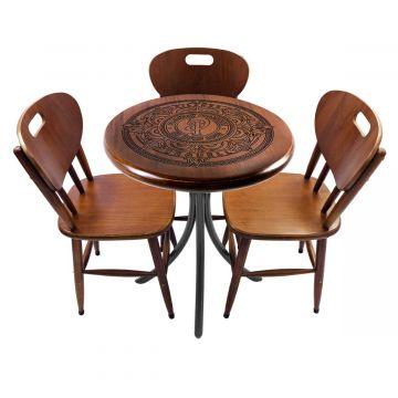 Mesa pequena para apartamento em madeira com 2 cadeiras Pilsner - Empório Tambo
