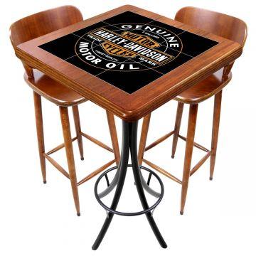 Mesa com 2 cadeiras para cozinha pequena Harley Davidson Genuine - Empório Tambo