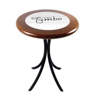 Mesa de Canto Madeira Azulejo Sacada - Personalizado