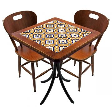 Mesa para cozinha pequena com 2 cadeiras Anos Dourados - Empório Tambo