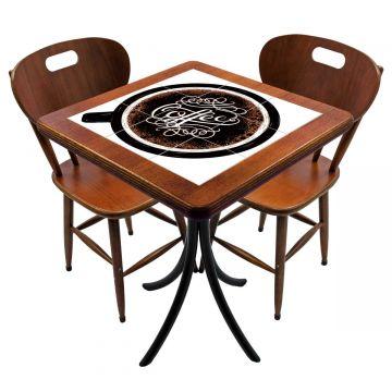Mesa para cozinha pequena com 2 cadeiras Coffe - Empório Tambo