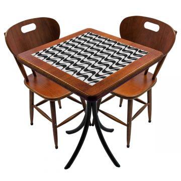 Mesa para cozinha pequena com 2 cadeiras Copacabana - Empório Tambo