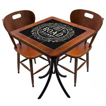 Mesa para cozinha pequena com 2 cadeiras Hit the Road Jack - Empório Tambo