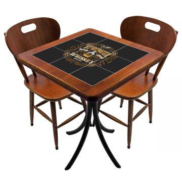 Mesa para cozinha pequena com 2 cadeiras Stronger Whiskey - Empório Tambo