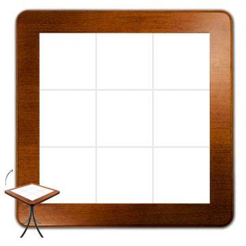 Mesa quadrada pequena para cozinha Branco - Empório Tambo