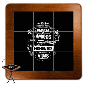 Mesa quadrada pequena para cozinha Família e Amigos - Empório Tambo